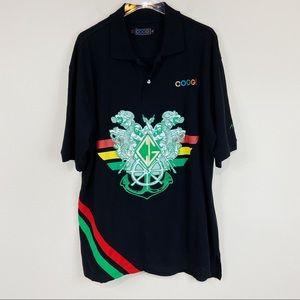 Coogi Australia | Black Embroidered Polo 2XL
